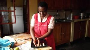 Haciendo pan. Rwanda