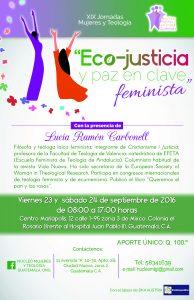 Afiche XIX Jornadas Mujeres y Teología%2c Guatemala